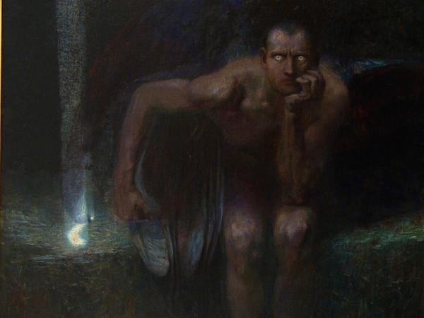 Franz von Stuck (Tettenweis, 1863 - Monaco di Baviera, 1928), Lucifero, 1891, Olio su tela, 161 x 152 cm, Sofia, National Gallery