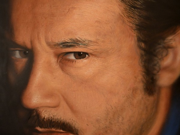 Jorit, Alberto, 230x160 cm, spray olio e acrilico su tela