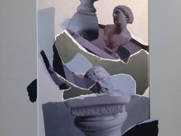"""Giulio Paolini, Senza titolo. Studio per la mostra """"LUISS MASTER OF ART"""", 2017, collage su passe-partout, 70x50 cm."""