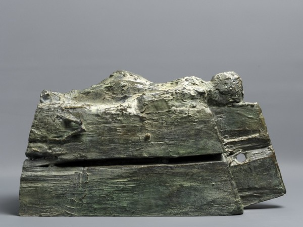 Jean-Loup Champion, Monumento XX, 2018, cm. 23,5x43x16,5, bronzo