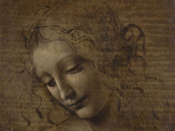 Leonardo da Vinci, La Scapiliata o Testa di Fanciulla, 1500-1510 circa, Olio su pannello, 21 x 24.6 cm, Parma, Galleria Nazionale | Foto © Lorenzo Moreni