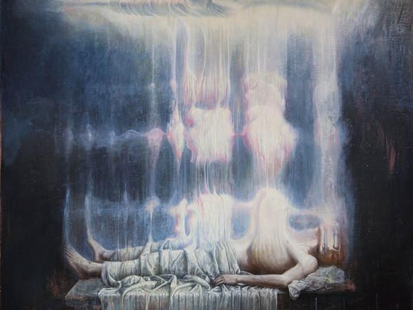 Agostino Arrivabene, Anastasis, olio su lino, cm. 320x300