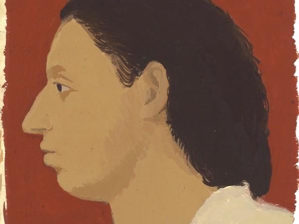 Giuseppe Capogrossi, Testa di giovane, 1934 ca., tempera su carta, cm. 32,5x24