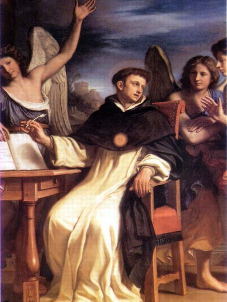 San Tommaso scrive l'Inno del SS. Sacramento