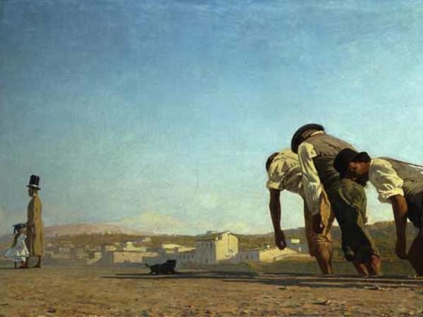 Telemaco Signorini, L'Alzaia, 1864, Olio su tela, Collezione privata   Courtesy of Jean-Luc Baroni Ltd