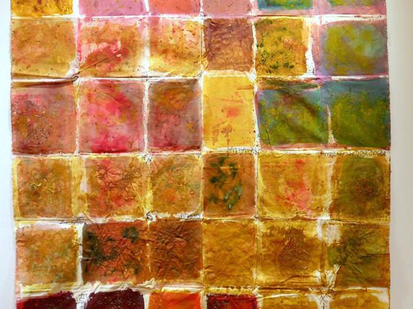 Renata Boero, Kromogramma, 1979, colori naturali su tela, cm. 255x170,. Opera selezionata per il premio acquaisto del Premio alla Carriera del Bugatti-Segantini