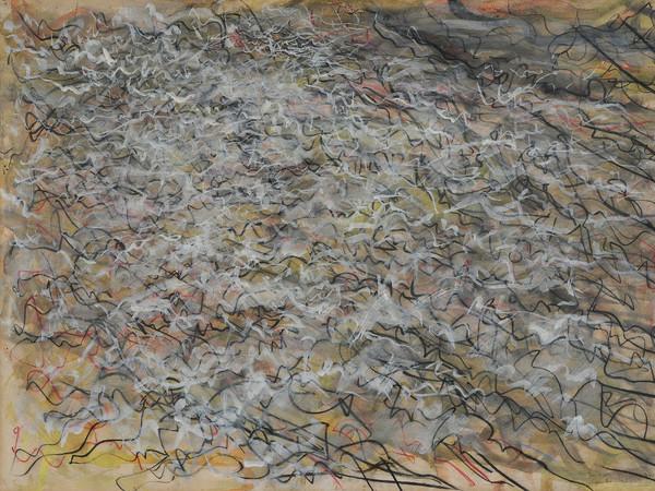Tancredi Parmeggiani, <em>Senza titolo</em>, 1955, Tempera su cartone incollato su faesite, 107 x 74 cm, Collezione privata, Venezia | © Claudio Franzini, Venezia<br />