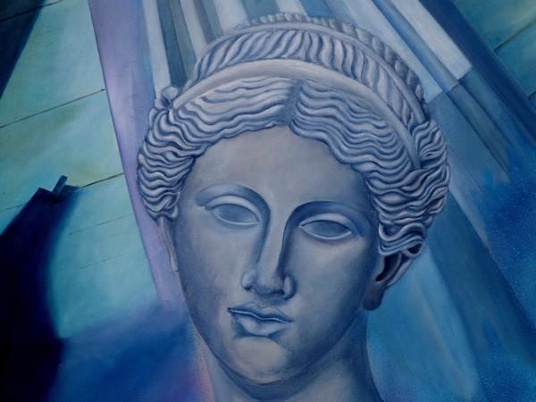 Antonella Serratore, Modernità e antichità (particolare), olio su tela