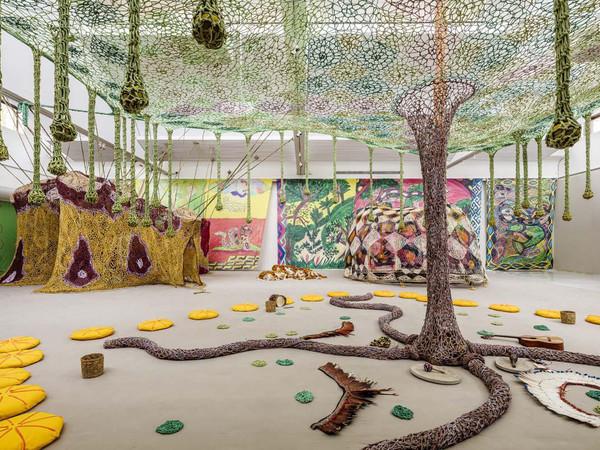 Ernesto Neto, Installation view, Rui Ni / Voices of the Forest, Kunsten Museum of Modern Art Aalborg, Aalborg, Denmark, 2016 I Ph. Anders Sune Berg