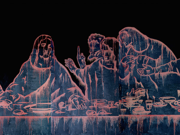 Wang Guangyi, The Last Supper (New Religion), 2011, oil on cancas, cm. 400x160