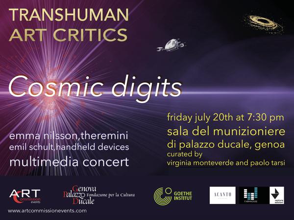 Transhuman Art Critic. Emil Schult e Emma Nilsson, Palazzo Ducale, Genova