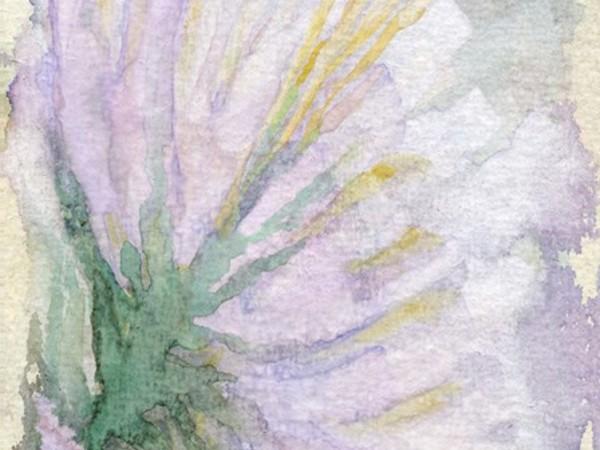 Giovanna Lionetti, Fiore di luce, gouache su carta, cm. 21x20