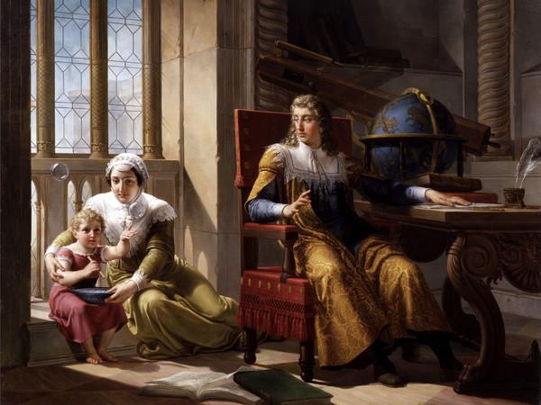 Pelagio Palagi, Newton scopre la teoria della rifrazione della luce, 1827, olio su tela, cm. 170x220. Brescia, Musei Civici d'Arte e Storia