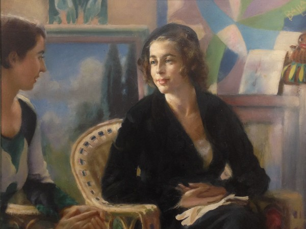 Giacomo Balla, <em>Parlano</em>, 1934, olio su tavola, 78 x 42 cm, Guidonia, Fondazione Biagiotti Cigna