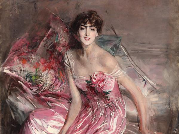 Giovanni Boldini, <em>La signora in rosa</em> <em>(Olivia Concha de Fontecilla)</em>, 1916, Olio su tela, 113 x 163 cm, Ferrara, Museo Giovanni Boldini