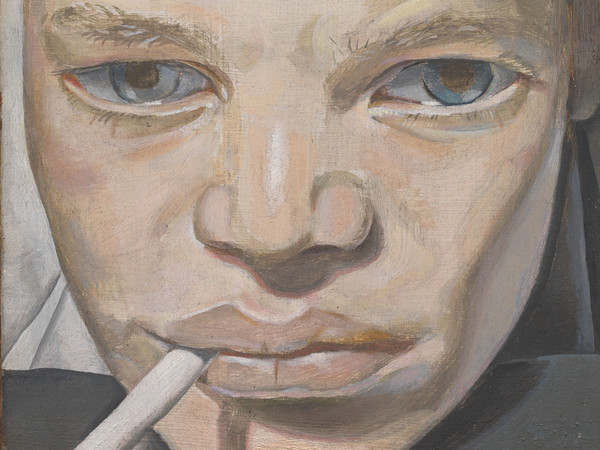Lucian Freud, Boy Smoking, 1950-15951, Olio su rame, Lucian Freud Archive / Bridgeman Images | Foto: © Tate London | Courtesy of Chiostro del Bramante, Roma