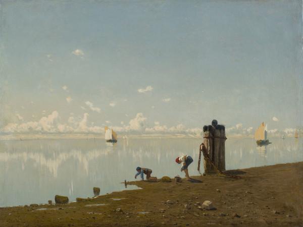 Guglielmo Ciardi, Mattino sulla laguna, 1875 circa, olio su tela, 73 x 98 cm
