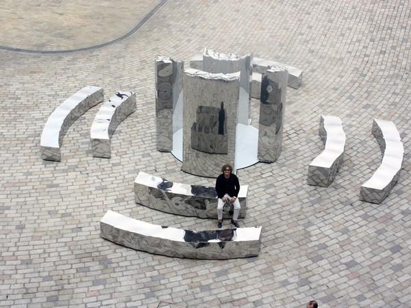 "Helidon Xhixha, ""Bliss"", Mirror Polished Stainless Steel, London Design Biennale 2016, Somerset House, London"