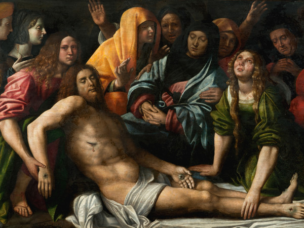 Giovan Francesco Caroto, Deposizione di Cristo, 1515, olio su tavola, 90x146 cm. Collezione privata