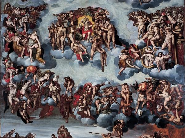 Antonio Campi e bottega, Giudizio Universale, seconda metà XVI sec., olio su tela, cm. 168x138,5. Collezione Creval, Sondrio