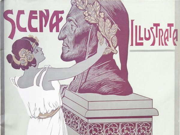 Scena Illustrata, fascicolo doppio, Firenze, 1-15 settembre 1921, Copertina di Carlo Casaltoli   Courtesy Accademia Nazionale dei Lincei