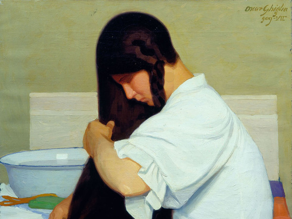 Oscar Ghiglia, La camicia bianca o Donna che si pettina, 1909, Olio su tela, Viareggio, Istituto Matteucci   Courtesy of Studio Esseci 2016