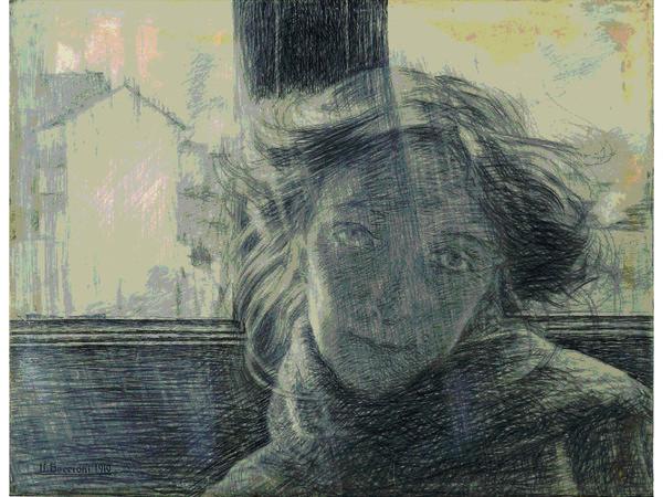 Umberto Boccioni, Controluce, 1910