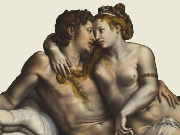 Giulio Romano, Due amanti, c. 1524, olio su tavola trasferito su tela, San Pietroburgo, The State Hermitage Museum Photograph