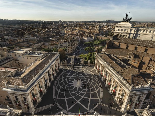 Palazzo dei Conservatori e Palazzo Nuovo, piazza del Campidoglio, Roma