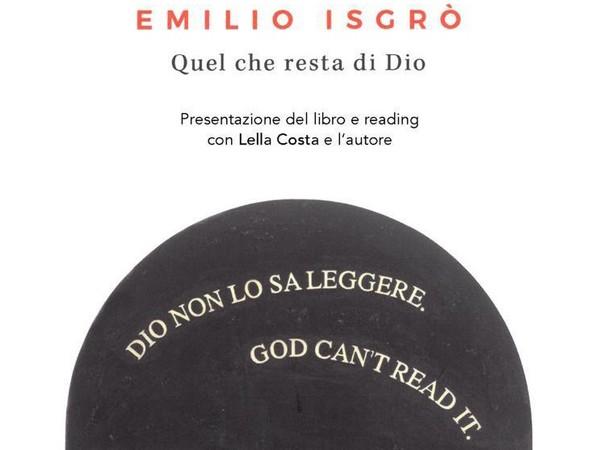 Emilio Isgrò. Quel che resta di Dio