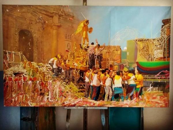 Opera di Francesco Lauretta, olio su tela