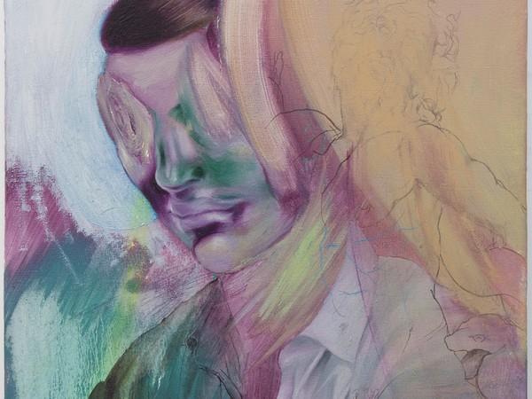 Rémi Deymier, Photon's Lullaby, 2020. Huile sur toile, 38 x 46 cm.