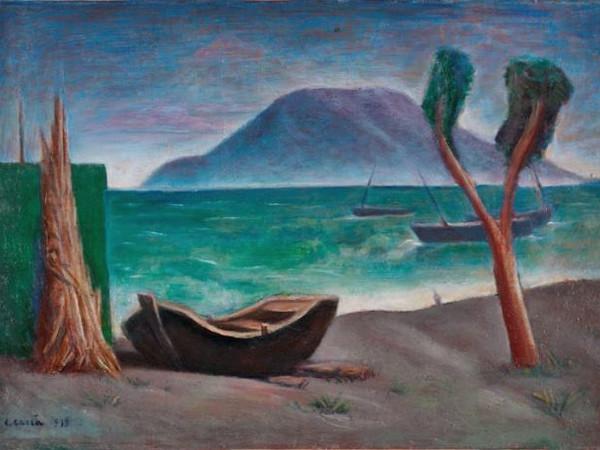 Carlo Carrà, Marina con albero