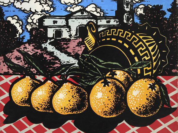 Ercole Pignatelli, Doppioni, 1966, olio su tela, 80 x90