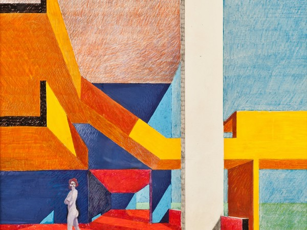 Carlo Aymonino, 1974, Gallaratese con Luciana, cm. 50x70