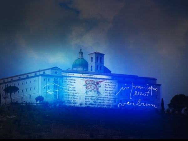 Marco Nereo Rotelli, Scritture di luce, installazione luminosa