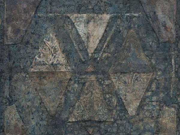 Fabio Iemmi, Untitled, 2019, tecnica mista su intonaco e tessuti, cm. 130x150