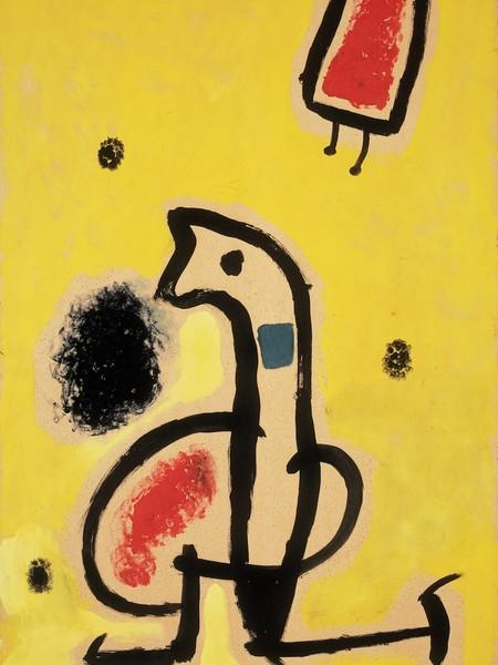 Joan Miró, Senza Titolo, n.d., olio su cartone, 91,5 x 64,5 cm