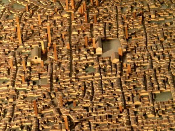 Modello della città di Bologna alla fine del XIII secolo