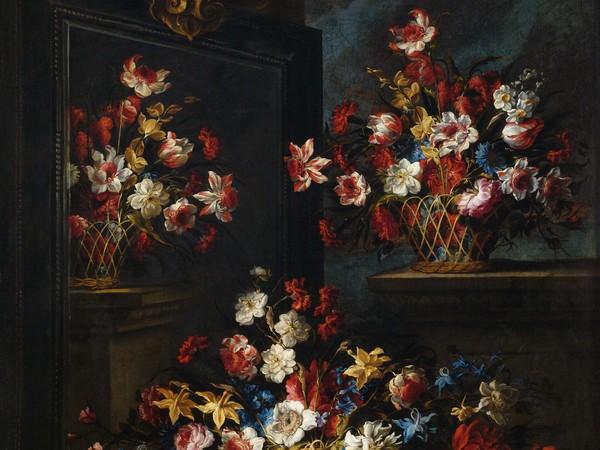 Juan de Arellano (1614 - 1676), Floreros ante un espejo, 1676, Museo de Bellas Artes de la Coruña di Madrid
