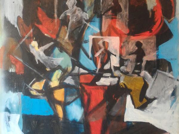 Bruno Caviola, Floreale, olio su tela, cm. 70x100