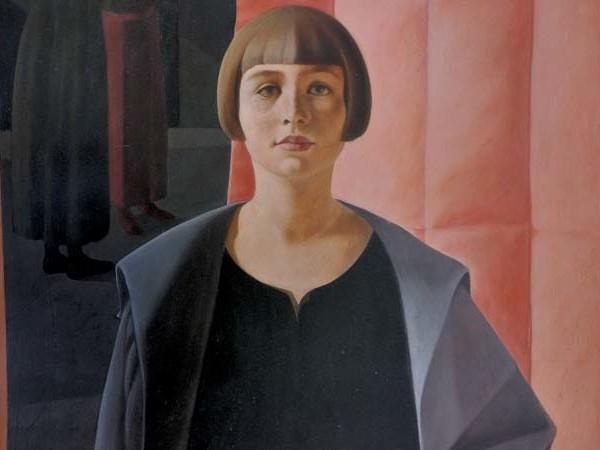 Felice Casorati, Ritratto di Renato Gualino (dettaglio), 1923-1924, olio su compensato. Istituto Matteucci, Viareggio