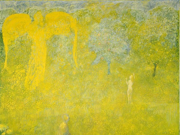 Cuno Amiet, Paradiso (Paradies), 1958, Olio su tela, 182 x 192 cm, Kunstmuseum Bern (opera in prestito)