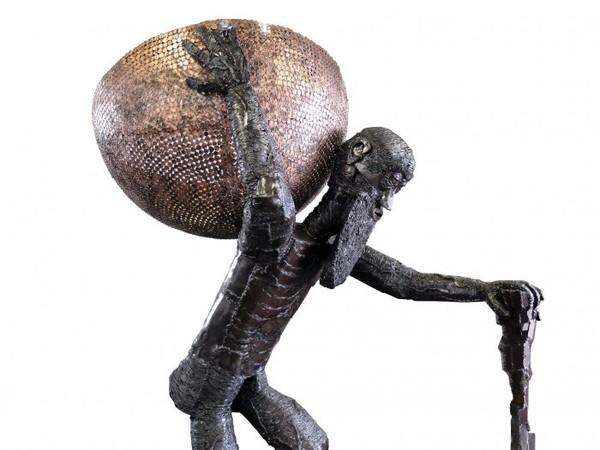 Kerta von Kubin, Atlas, scultura in ferro