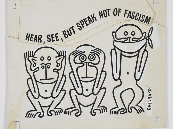 Ad Reinhardt, Untitled, 1943 Pubblicato in PM (newspaper), 23 aprile, 1943. Inchiostro, matita e tempera su carta. Montato su carta 11.1x13.3 cm.