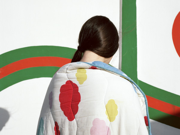 Marco Scozzaro, DIGITAL CLOUDS, 2015. Tessuto Jacquard, 127 x 190,5 cm.