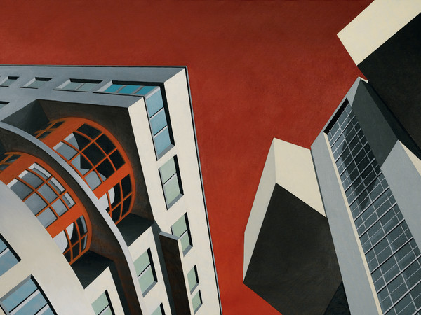 Marco Petrus, Architettonica, 2006, olio su tela, cm. 170x250