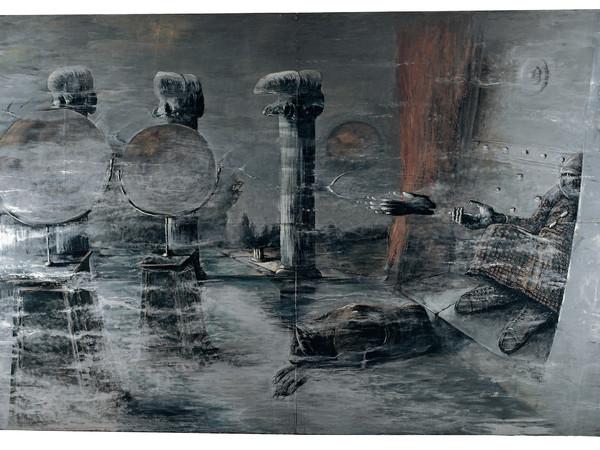 Sergio Vacchi, Perché il pianeta, 1975, cm. 300x460