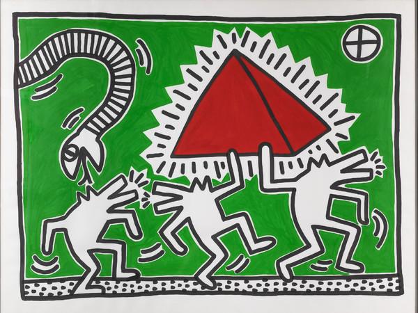 <span>Keith Haring, Untitled (Egypt), 1982, acrilico su carta, 100x130 cm. Milano, Collezione Consolandi</span>