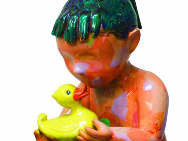 David Gerstein, Bathing baby, 2011, bronzo